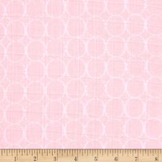 Embrace Double Gauze Rings Pink from @fabricdotcom  From Shannon Fabrics, this ultra soft double gauze fabric is perfect for making popular swaddling blankets, bibs, burp cloths, bedding and baby accessories. This double gauze consists of two layers of gauze tacked together. It has an incredibly soft hand and nice drape. Colors include baby pink and white.