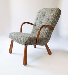 Philip Arctander Armchair from Nordisk Staal & Møbel Central, Designed 1940's | From a unique collection of antique and modern armchairs at http://www.1stdibs.com/furniture/seating/armchairs/