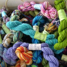 Spring Blossoms  Mini Skeins Fingering Sock Yarn Kit  by LadyDanio, $20.00
