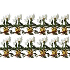 Sage & Co 7-inch Paper White Bulb Tie On Christmas Ornament