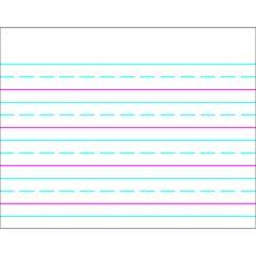 WIPE-OFF CHART HANDWRITING PAPER