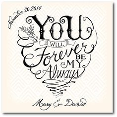 """Courtside Market """"you And Me Forever"""" Canvas Wall Art Multi"""