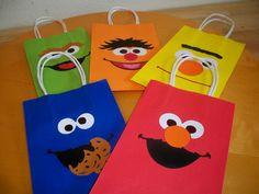 sesame street party bags, facilisimas y divertidas!!!