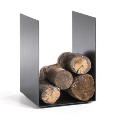 Télio Log Holder AM. Simplicity meets design with a minimalist look and clean linesFeatures: Home Furnishing Accessories, Decorative Accessories, Metal Epoxy, Range Buche, Firewood Holder, Fire Basket, Log Holder, Barn Door Handles, Fireplace Inserts