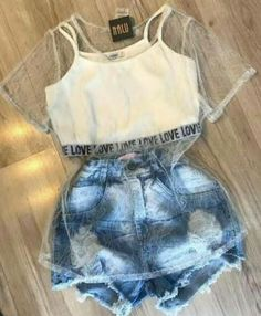 "The post ""Roupa divaa"" appeared first on Pink Unicorn Ropa Cute Casual Outfits, Swag Outfits, Cute Summer Outfits, Stylish Outfits, Teenage Outfits, Teen Fashion Outfits, Outfits For Teens, Girl Outfits, Fashion Clothes"