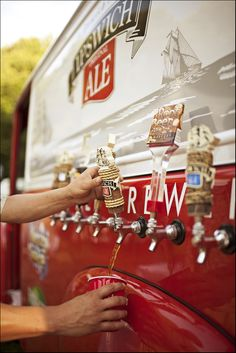 old fashioned brewery truck