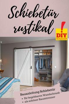 Diese Schiebetür macht sich gut in jedem Raum – egal ob als Raumtrenner oder als Tür für den Begehbaren Kleiderschrank. Auf selbermachen.de gibt's die kostenlose Anleitung!