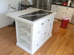 walmart kitchen island assembled in Rockville MD by Furniture assembly experts LLC - Call 2407052263