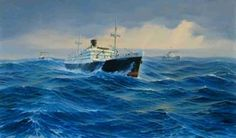 m.s. Tjitjalengka van de Java China Japan Lijn, op weg naar Australië met goud uit Nederlands Indië, 1942.