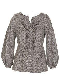 Блузка - выкройка № 130 из журнала 11/2011 Burda – выкройки блузок на Burdastyle.ru
