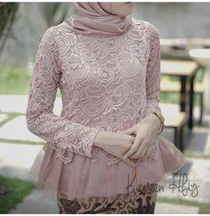 @kaureenhfiy Kebaya Lace, Batik Kebaya, Kebaya Dress, Dress Pesta, Batik Dress, Kebaya Modern Hijab, Kebaya Hijab, Muslim Fashion, Hijab Fashion