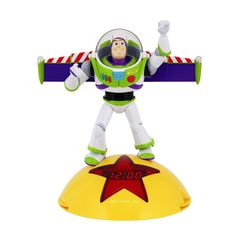 Toy Story Alarm Clock Radio. Perfect for your little Toy Story fan, this Disney Alarm Clock Radio has an alarm with snooze function, plus the option to select buzzer, radio or voice alarm. The alarm clock also features Buzz Lightyear phrases. An analog AM/FM mono radio makes this piece multi-functional.Disney Toy Story Alarm Clock Radio: * LED display for clock * Single alarm with snooze function * Wake to buzzer, radio, voice selection * Features Buzz Lightyear phrases *...