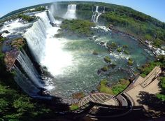 Iguazu Falls.  Took a helicopter ride around this area...I must have been crazy!