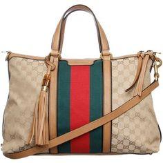 Gucci Beige Original GG Fabric Handbag