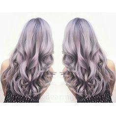 pastel lavender lilac silver colormelt hair Instagram @dearmiju