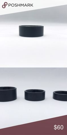 Black Tungsten Carbide Band 9mm, tungsten Band Accessories Jewelry