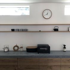 Kitchen Cupboards, Kitchen Art, Kitchen Interior, Open Shelving, Future House, Floating Shelves, House Design, Interior Design, House Styles