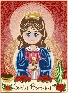 Santa Barbara by OradiaNCPorciuncula on DeviantArt Saint Barbara, Princess Peach, Princess Zelda, Yoruba, Orisha, Arte Popular, Deviantart, Princesas Disney, Detailed Image