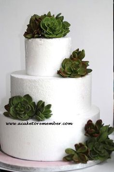 Gumpaste succulents for wedding cake DIY by ACakeToRemember, $120.00