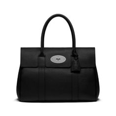 Bayswater in Black Soft Grain With Silver Tone | Bayswater | Mulberry