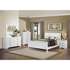 Mayville White Bedroom Set by Homelegance Furniture - Home Gallery Stores