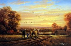 Artist George Kovach Unframed Farm Print Thoughts of Home | WildlifePrints.com