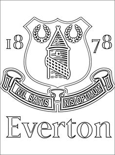 Everton FC Coloring Page