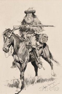 Frederic Remington (American, 1861-1909) A Mountain Man | Sale Number 2655B, Lot Number 396 | Skinner Auctioneers
