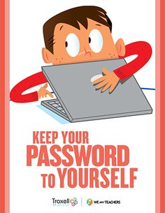 Password Poster Printable: Good reminder to put up in the computer lab or technology classroom.