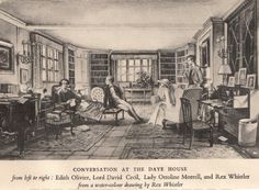 Conversation at the Daye House by Rex Whistler