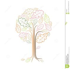 Vintage Abstract Tree Drawing Stock Vector - Illustration of environment, leaf: 11588761 Family Tree Drawing, Create A Family Tree, Tree Graphic, Tree Art, Vintage Images, Sketches, Graphic Design, Wall Art, Drawings
