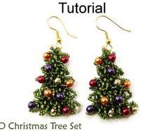 Christmas Holiday Beading Tutorial  Earrings by SimpleBeadPatterns