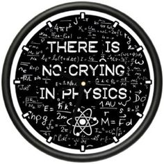 PHYSICS Wall Clock science teacher instructor school classroom no crying gift