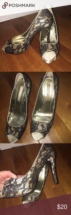 Nine West Lace Heels Nine West Lace Heels. Size 7.5. Worn once. Nine West Shoes Heels