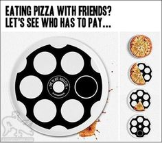 Funny pictures about Playing Pizza Roulette. Oh, and cool pics about Playing Pizza Roulette. Also, Playing Pizza Roulette. Roulette Game, Quick Games, Russian Roulette, Incredible Gifts, Eat Pizza, Get Shot, Cool Inventions, Cool Gadgets, Tech Gadgets