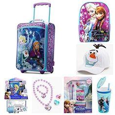 411bfaef531 Disney Frozen Luggage Complete Travel Combo Kit Activity Set Kids Anna Elsa  Olaf