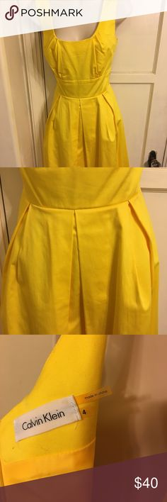 Calvin Klein fit and flare dress size 4 Worn once! Great for spring. Showers, brunches, daytime wedding. True to size, hits slightly below knee. Calvin Klein Dresses