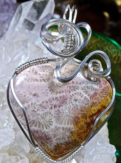 Wire Wrapped INDONESIAN FOSSILIZED CORAL Pendant by CrawfordStones $120.00 Click HERE to BUY!!!!!!