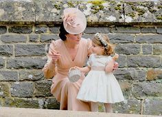 """Kate pictured with her two year old daughter, Charlotte, at her Auntie Pipa's wedding 5-20-2017, Catherine, Duchess of Cambridge (Catherine Elizabeth """"Kate""""Middleton; born 9 January 1982) is the wife of Prince William, Duke of Cambridge"""