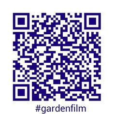 Scan this to link to #gardenfilm info
