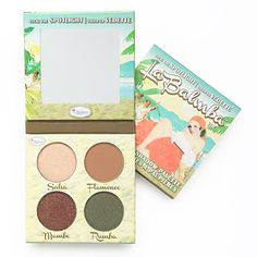 Steal the spotlight with this theBalm La Balmba eye shadow palette. This sizzling palette consists of four shadows: -Sasfa -Flamenco -Mambo -Rumba Best Eyeshadow Palette, Matte Eyeshadow, Eye Palette, Eyeshadow Brushes, Makeup Palette, Makeup Eyeshadow, Beautiful Eye Makeup, Makeup For Green Eyes, Yolo