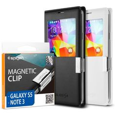 Spigen® Samsung Galaxy S5 / Galaxy Note 3 Flip Cover [Magnetic Clip] Magnetic Holder for Samsung S View Cover... $9.99 (save $10.00)