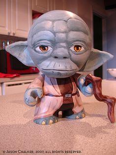 Yoda Munny by Artist Jason Chalker