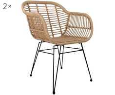 Polyratanová stolička s opierkami Costa, 2 ks Rattan Dining Chairs, Outdoor Chairs, Outdoor Furniture, Outdoor Decor, Royal Chair, African Interior, 139, Modular Sofa, Garden Chairs