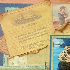 Sea Cruise - Maritime Journal Cards - add to scrapbook layouts Maritime Collection