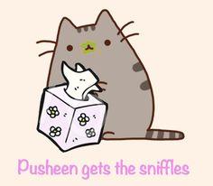 Pusheen gets the sniffles