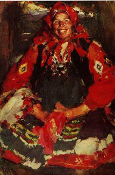 Arkhipov Parasztasszony zöld kötényben 1927 - Abram Jefimovics Arhipov - Wikipédia