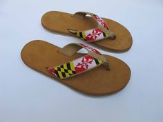 Maryland Flag Sandals