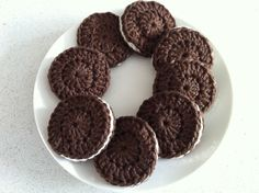 Oreo Cookies... I don't see a pattern, but it looks easy enough.