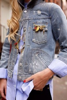 #denimjacket #destroyeddenim
